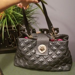 Kate Spade Astor Court Elena Black Quilted Leather